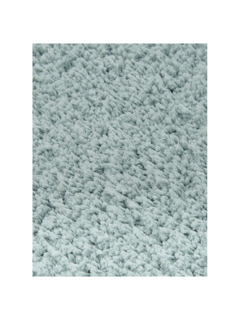 Flauschiger Hochflor-Teppich Leighton in Mintgrün, Flor: Mikrofaser (100% Polyeste, Mintgrün, B 200 x L 300 cm (Größe L)