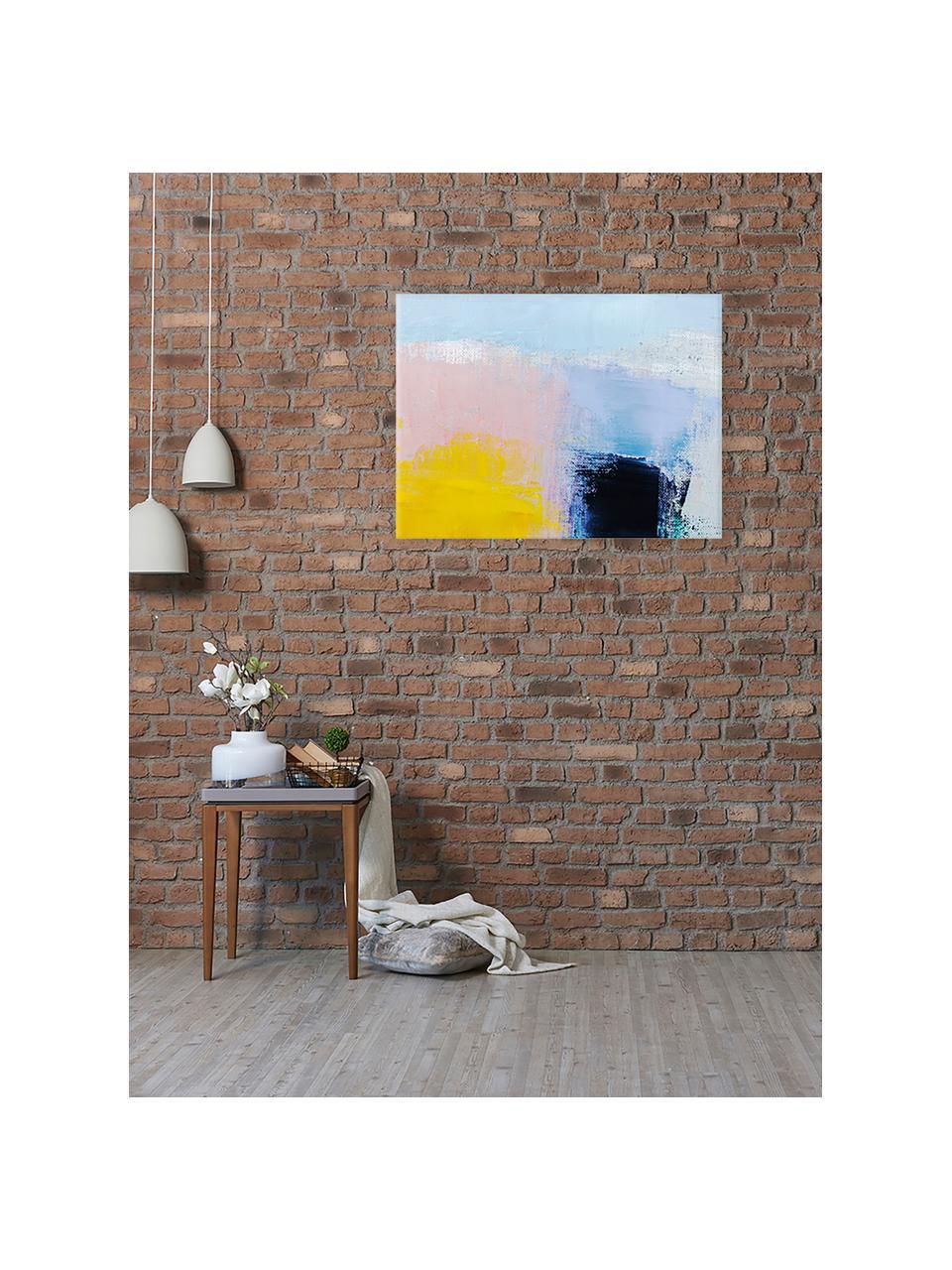 Stampa su tela Abstract Art, Immagine: stampa digitale su lino, Multicolore, Larg. 80 x Alt. 60 cm