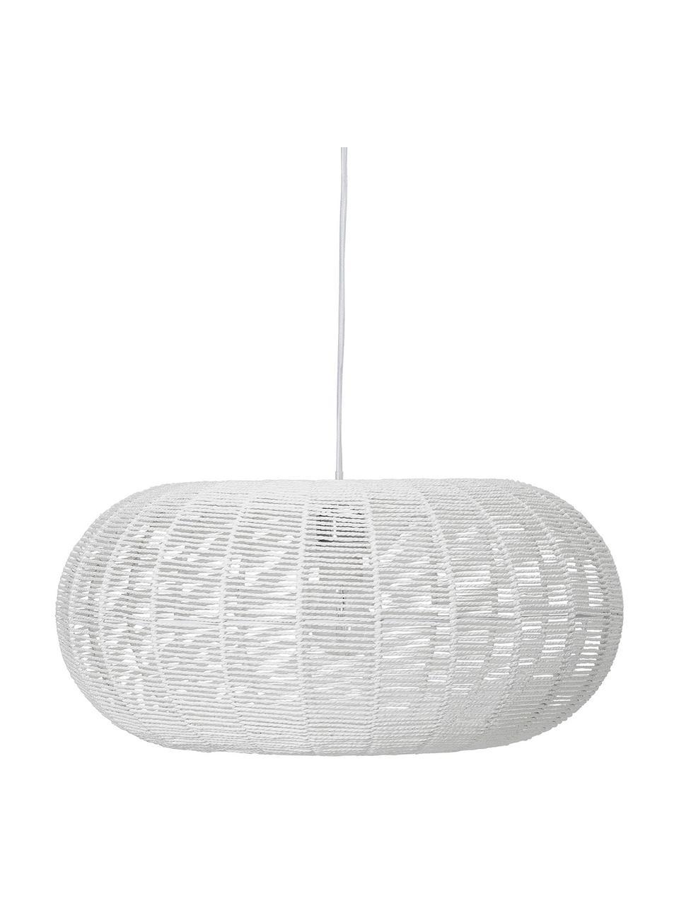 Lampa wisząca z papieru Lubino, Biały, Ø 50 x W 23 cm