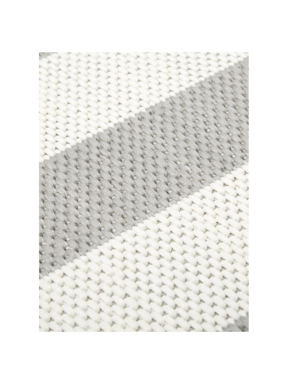 Dywan wewnętrzny/zewnętrzny Axa, 86% polipropylen, 14% poliester, Kremowobiały, szary, S 200 x D 290 cm (Rozmiar L)