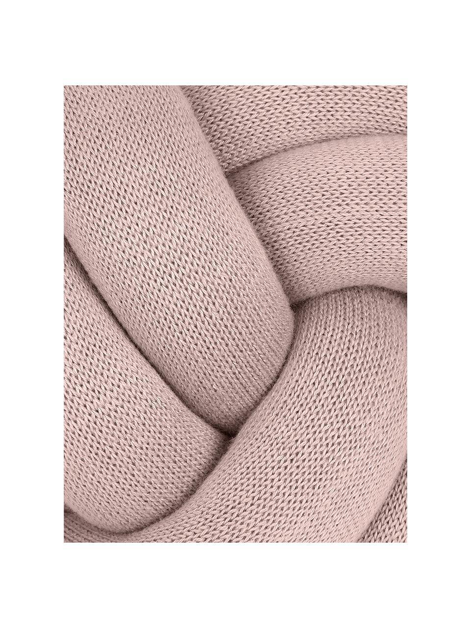 Geknoopt kussen Twist in roze, Roze, Ø 30 cm