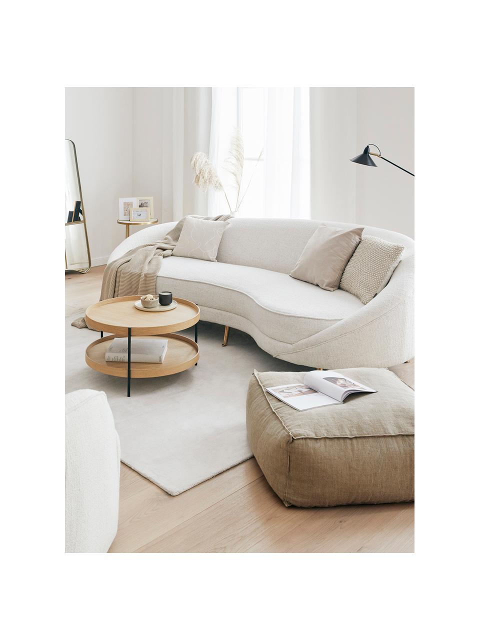 Sofa bouclé w kształcie nerki  Gatsby (3-osobowa), Tapicerka: bouclé (70% poliester, 20, Nogi: metal galwanizowany, Bouclé beżowy, S 245 x G 102 cm