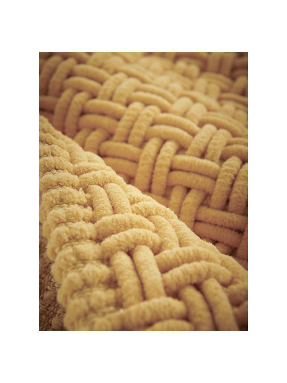 Miękki dywanik łazienkowy Panama, 60% poliester, 40% bawełna, Żółty, S 50 x D 80 cm