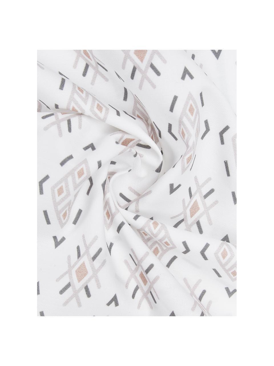 Baumwoll-Wendebettwäsche Lawana im Boho Style, Webart: Perkal Fadendichte 180 TC, Weiß,Mehrfarbig, 135 x 200 cm + 1 Kissen 80 x 80 cm