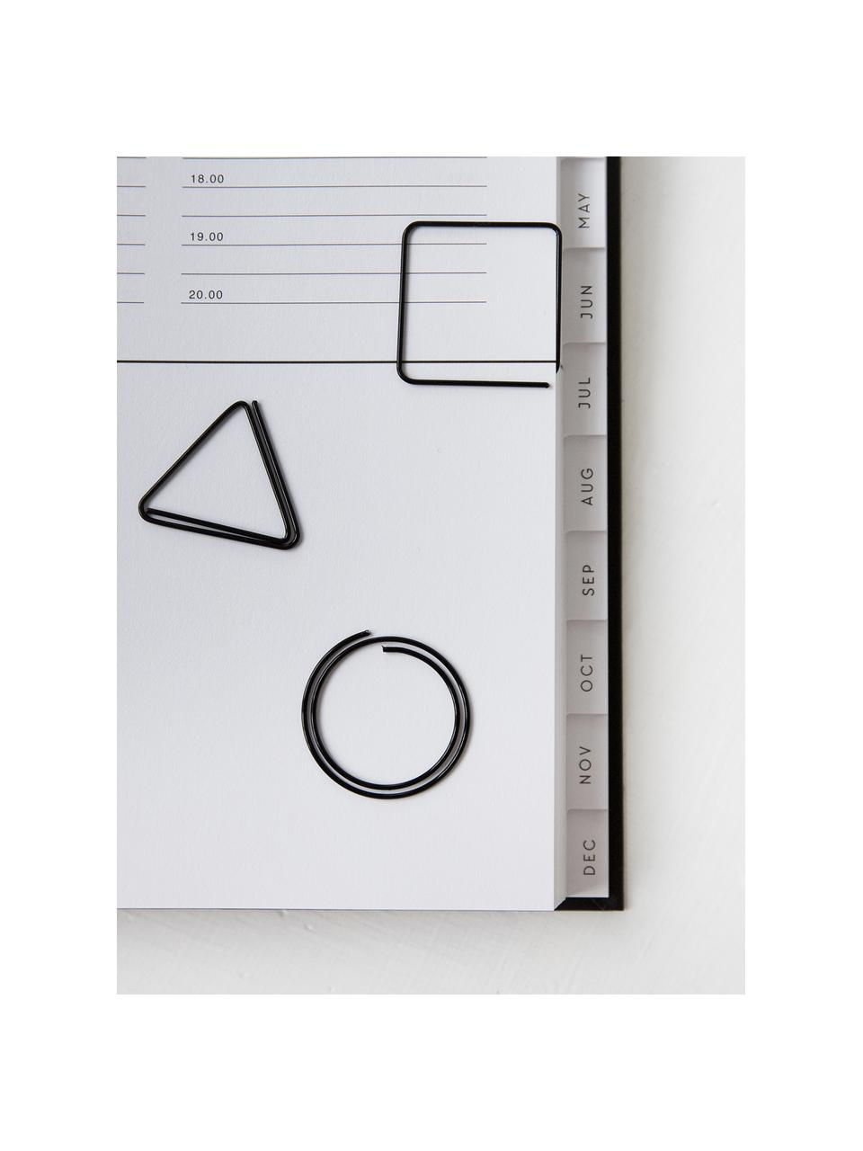 Set di graffette Geometria 9 pz, Metallo verniciato, Nero, Larg. 3 x Alt. 3 cm