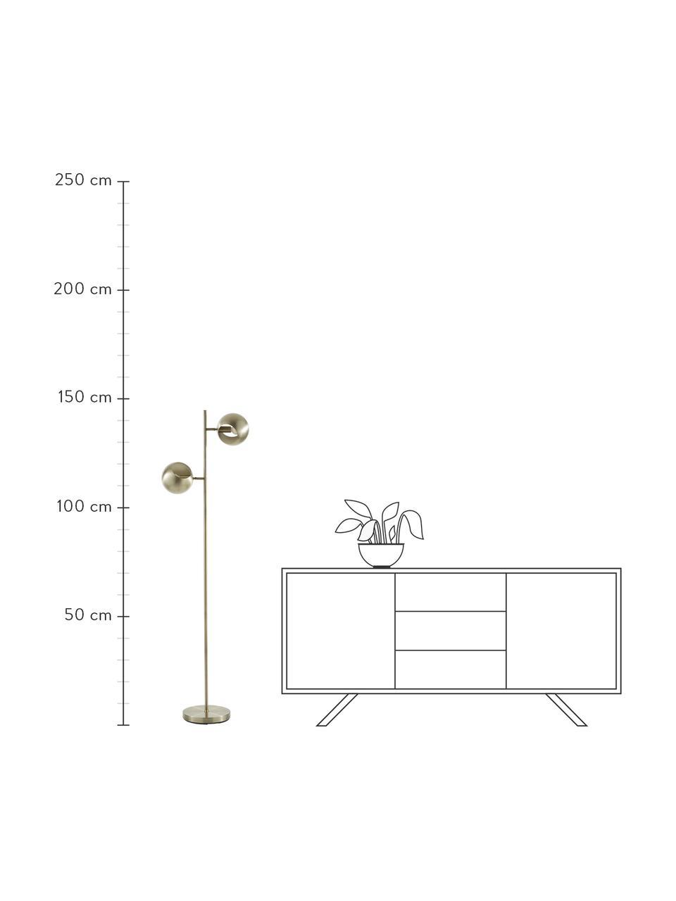 Leselampe Edgar in Messing mit Antik-Finish, Lampenschirm: Metall, lackiert, Lampenfuß: Metall, lackiert, Leselampe Edgar in Messing mit Antik-Finish, 40 x 145 cm