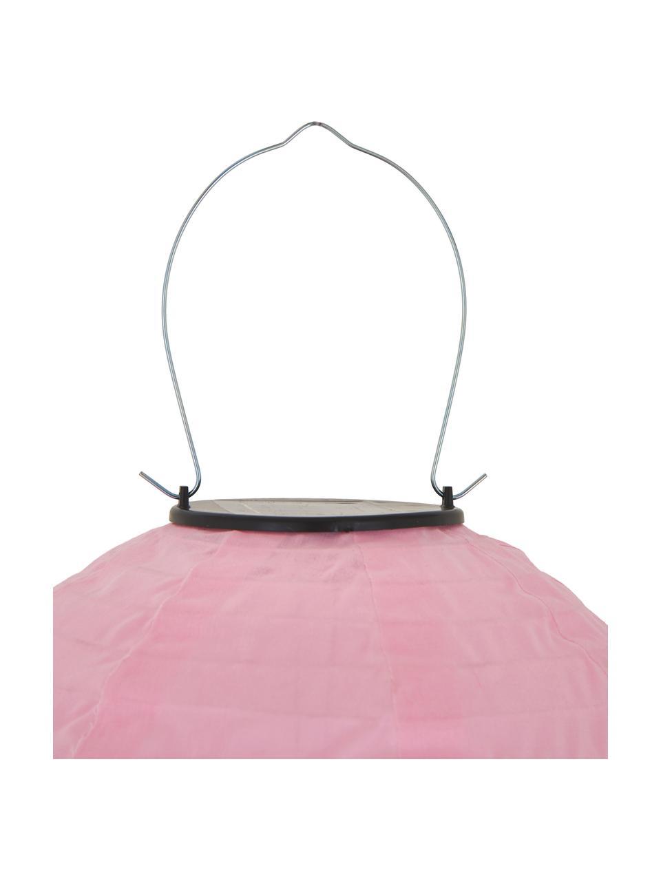 Komplet zewnętrznych lamp solarnych Chinese, 2 elem., Tworzywo sztuczne, Blady różowy, Ø 25 x W 25 cm