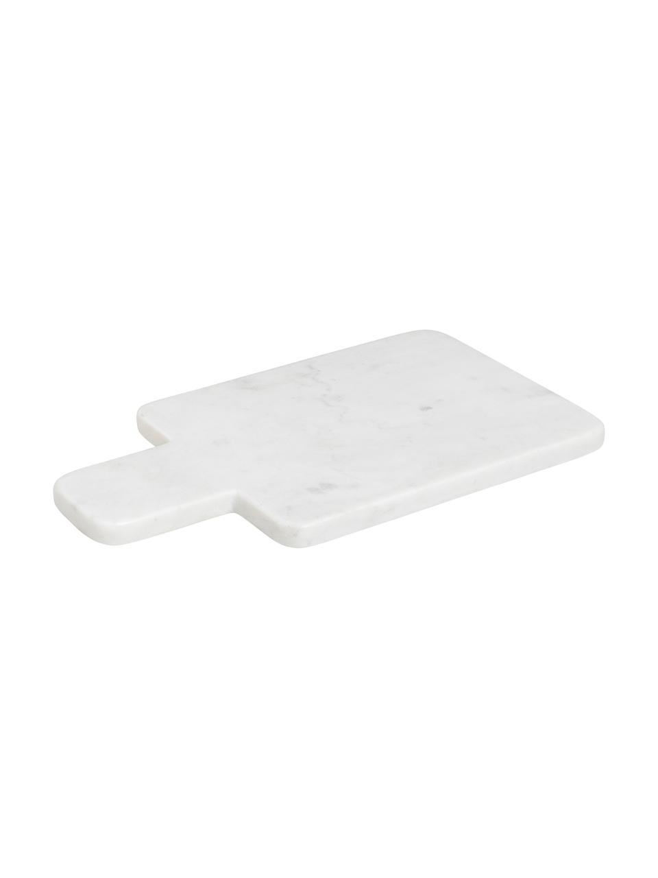 Deska do krojenia z marmuru Adam, Marmur, Biały, D 30 x S 17 cm