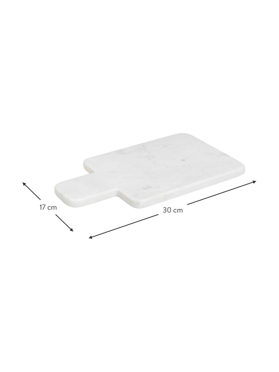 Marmor-Schneidebrett Adam, L 30 x B 17 cm, Marmor, Weiß, 17 x 30 cm
