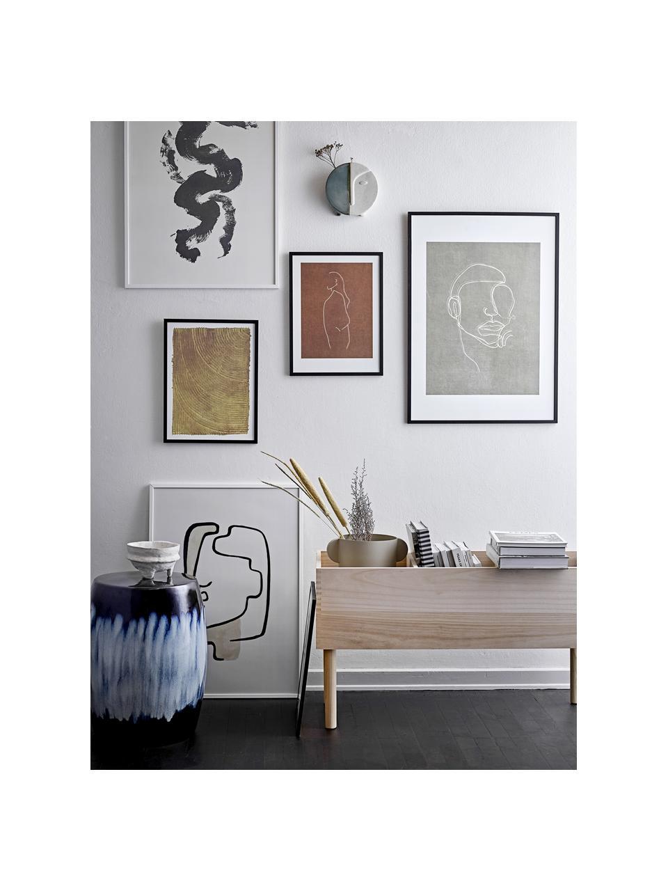 Stampa digitale incorniciata Espen, Cornice: legno, Immagine: carta, Nero, greige, bianco, Larg. 32 x Alt. 42 cm