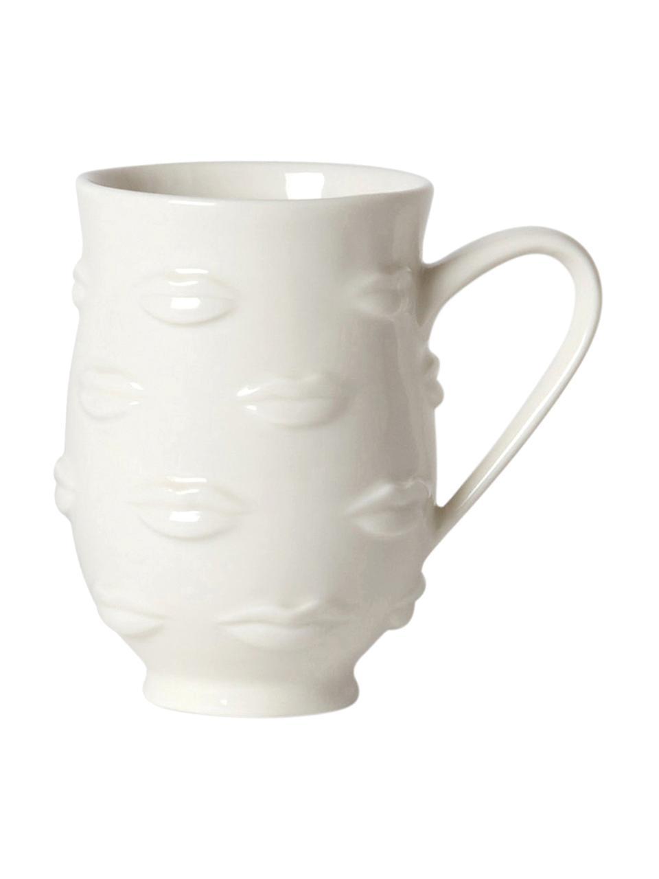 Designer mok Gala, Porselein, Wit, Ø 9 x H 13 cm