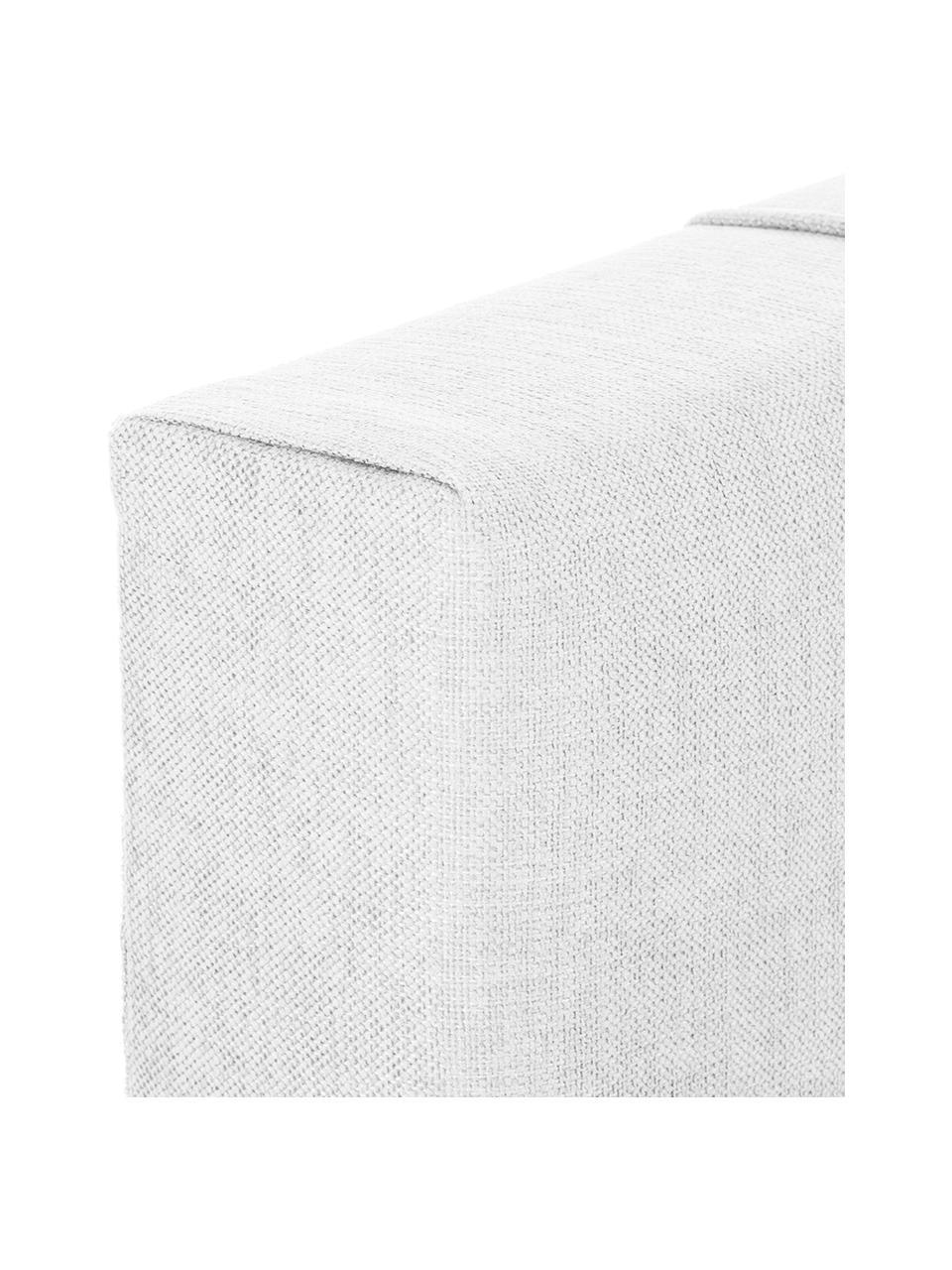 Łóżko kontynentalne premium Lacey, Nogi: lite drewno bukowe, lakie, Jasny szary, 200 x 200 cm
