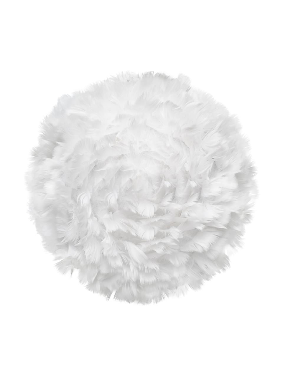 Kinkiet/lampa sufitowa z piór Eos Up, Biały, Ø 40 x G 15 cm