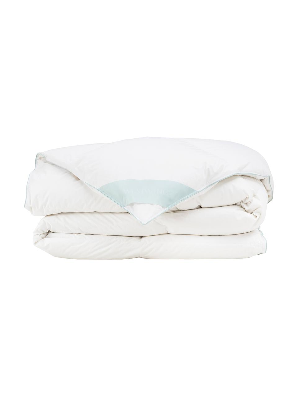 Piumino caldo in piuma d'oca Comfort, Bianco, Larg. 200 x Lung. 200 cm
