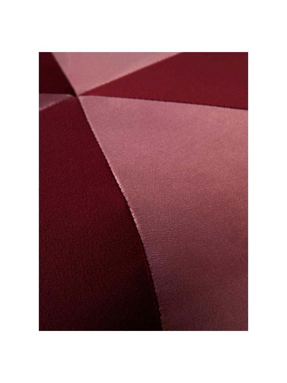 Samt-Kinder-Pouf Barcelona, Bezug: Polyestersamt, Gestell: Holz, Rot, Rosa, Ø 40 x H 28 cm