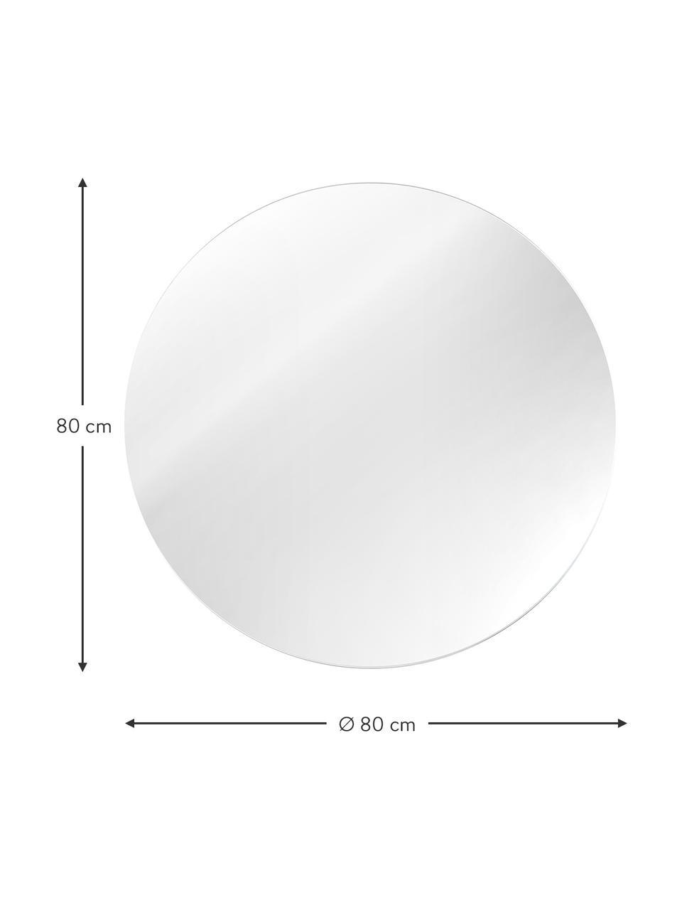 Ronde wandspiegel Erin zonder lijst, Spiegelvlak: spiegelglas. Buitenrand: zwart, Ø 100 cm