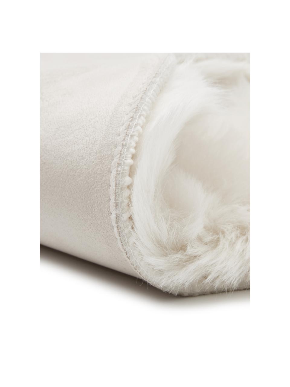 Kunstfell Mathilde, glatt, Vorderseite: 65% Acryl, 35% Polyester, Rückseite: 100% Polyester, Creme, 60 x 90 cm