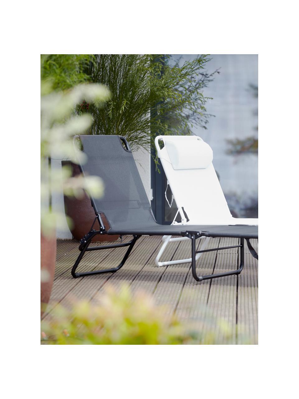Leżak ogrodowy Fiam Amigo, Stelaż: aluminium, Biały, D 190 x S 58 cm
