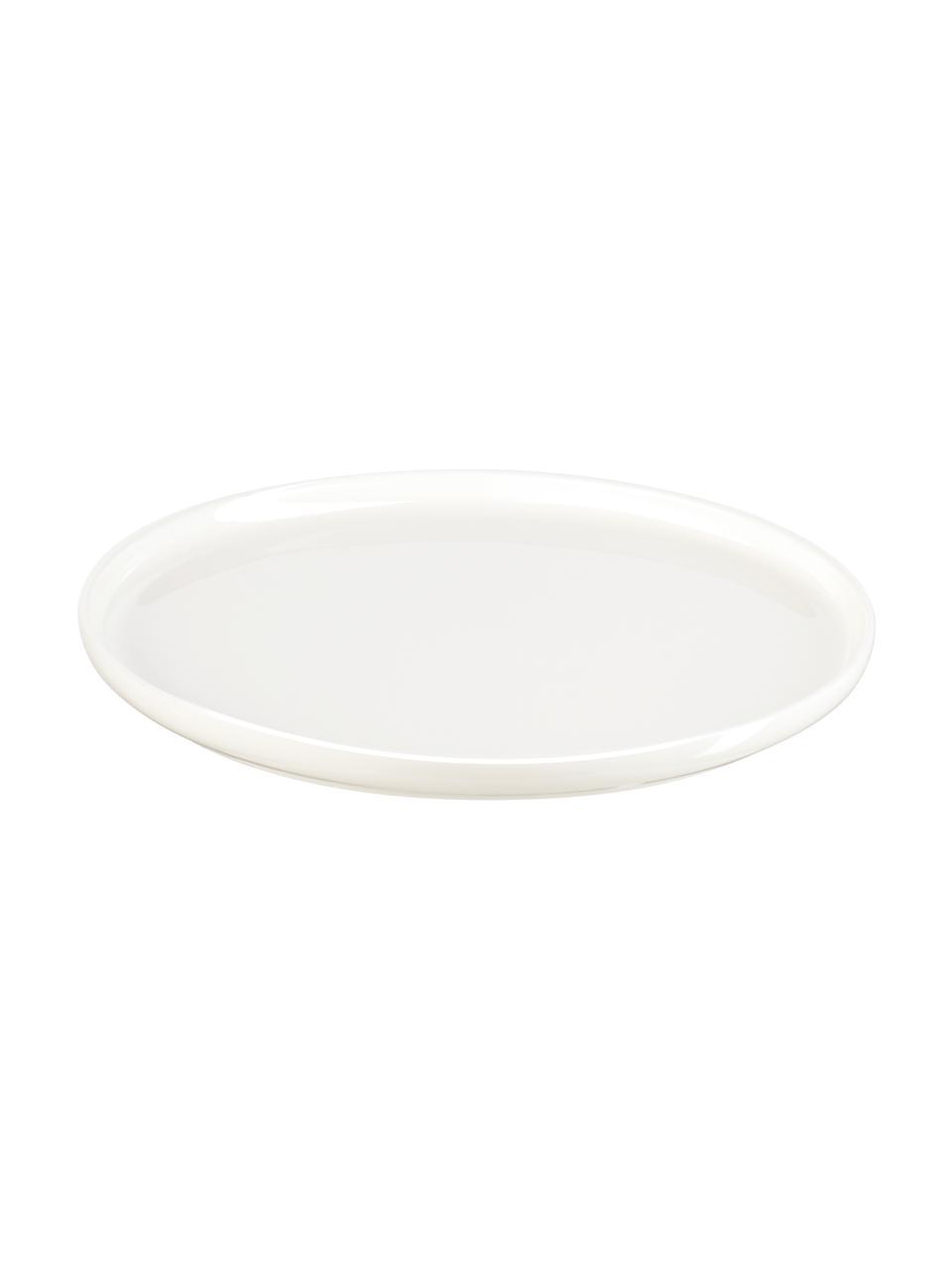 Talerz śniadaniowy z porcelany kostnej Oco, 6 szt., Porcelana chińska Porcelana chińska Fine Bone China to miękka porcelana wyróżniająca się wyjątkowym, półprzezroczystym połyskiem, Kość słoniowa, Ø 15 cm