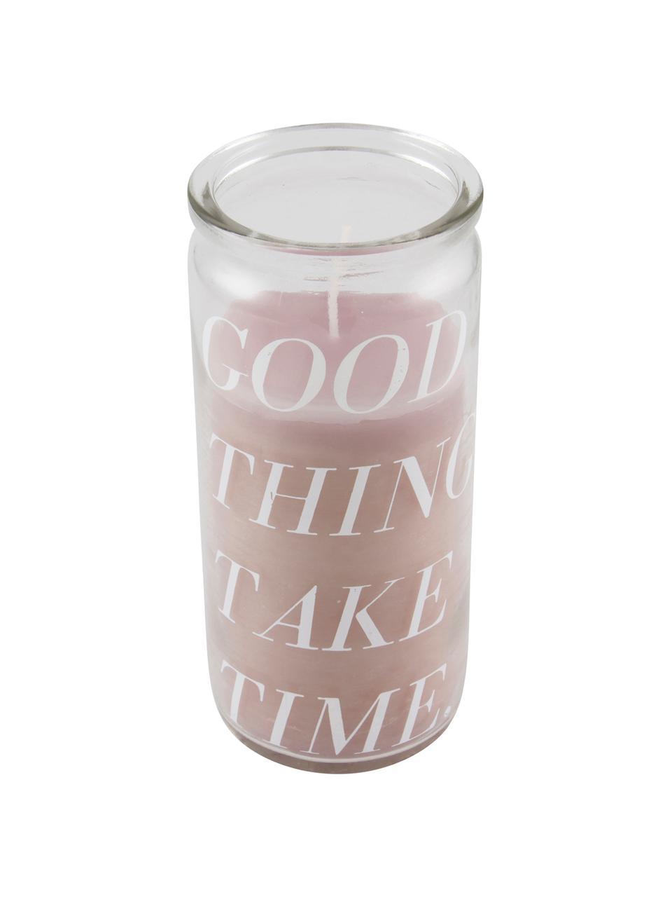 Świeca Good Things, Szkło, wosk, Transparentny, rożowy, Ø 6 x 14 cm