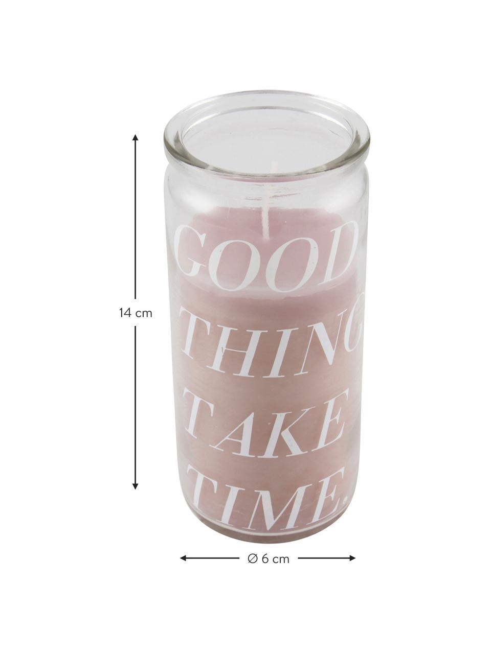 Bougie Good Things, Transparent, rose
