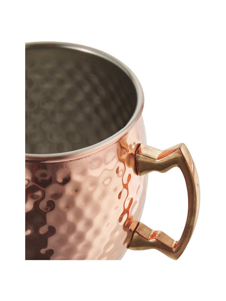 Moscow Mule Kupferbecher Hammered mit gehämmerter Oberfläche, Stahl, außen verkupfert, Kupfer, Ø 9 x H 10 cm