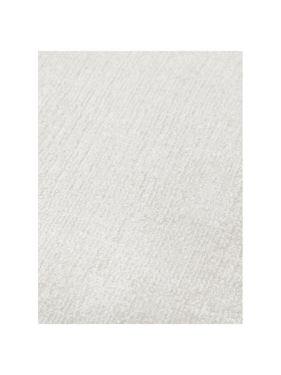 Tappeto in viscosa color avorio tessuto a mano Jane, Vello: 100% viscosa, Retro: 100% cotone, Color avorio, Larg. 300  x Lung. 400 cm (taglia XL)