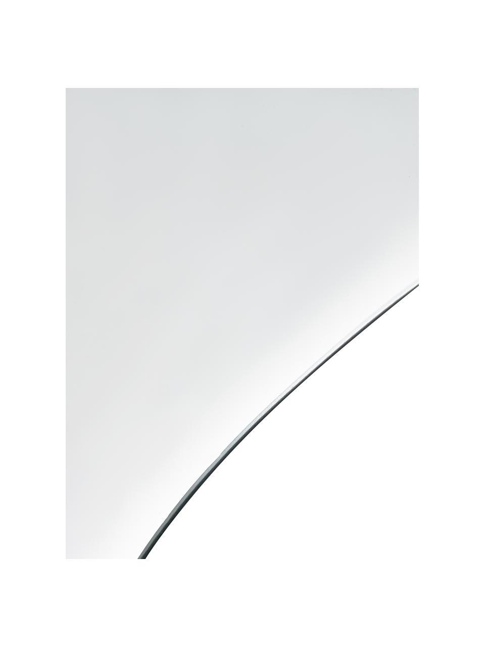 Rahmenloser Wandspiegel Lake, Spiegelfläche: Spiegelglas, Rückseite: Mitteldichte Holzfaserpla, Silber, 48 x 80 cm