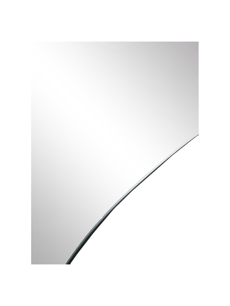Specchio da parete Lake, Superficie dello specchio: lastra di vetro, Retro: pannello di fibra a media, Argento, Larg. 48 x Alt. 80 cm
