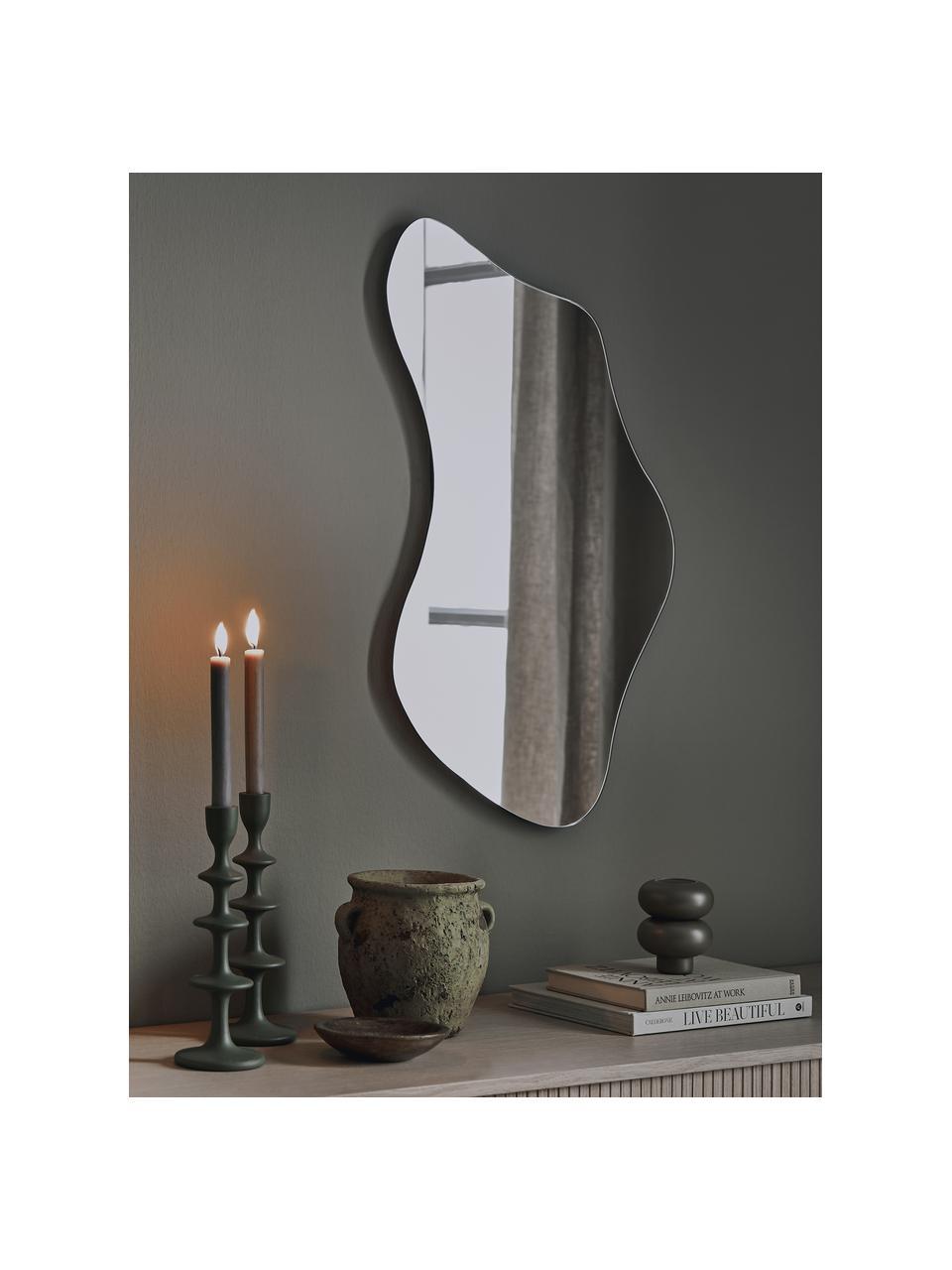 Bezrámové nástěnné zrcadlo Lake, Stříbrná