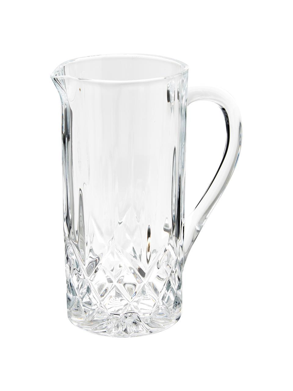 Kristall-Krug Opera mit Relief, 1.2 L, Luxion-Kristallglas, Transparent, H 23 cm