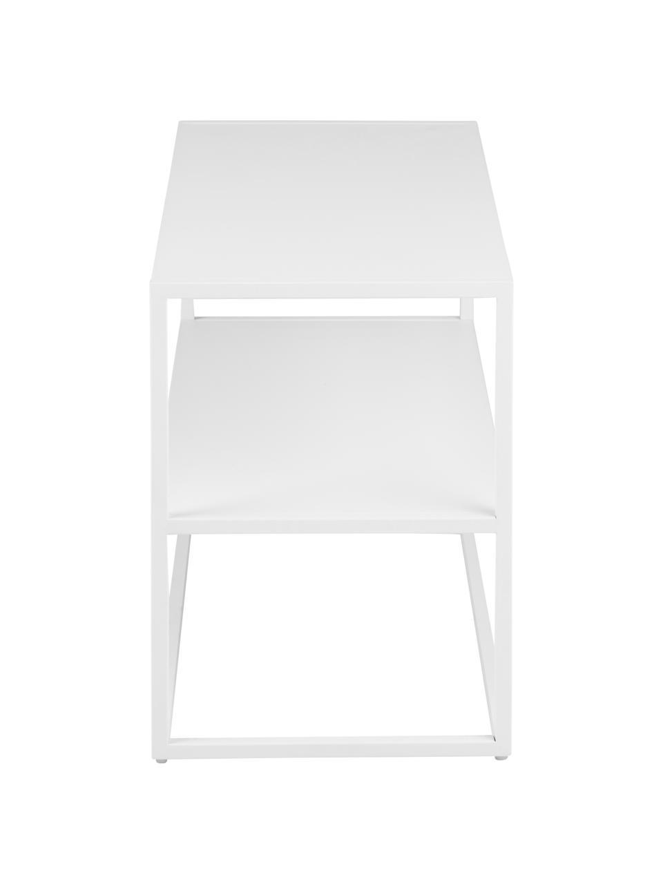 Półka na buty z metalu Newton, Metal malowany proszkowo, Biały, S 70 x W 45 cm