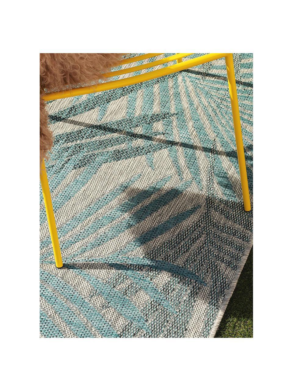Dywan wewnętrzny/zewnętrzny Cleo, 90% polipropylen, 10% poliester, Niebieski, S 80 x D 150 cm (Rozmiar XS)
