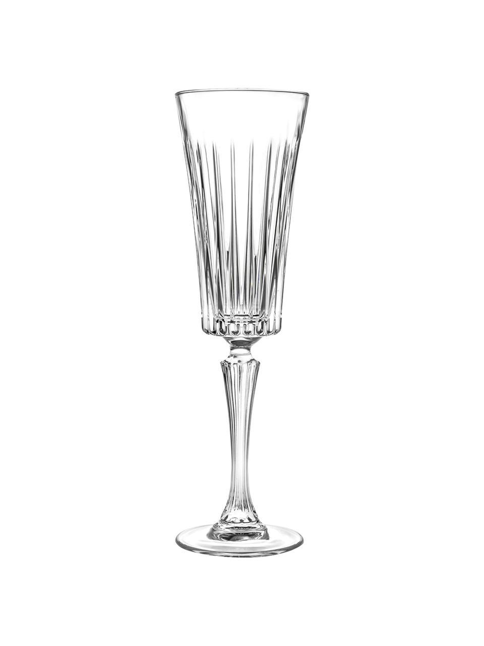 Flute champagne in cristallo  Timeless 6 pz, Cristallo Luxion, Trasparente, Ø 8 x Alt. 24 cm