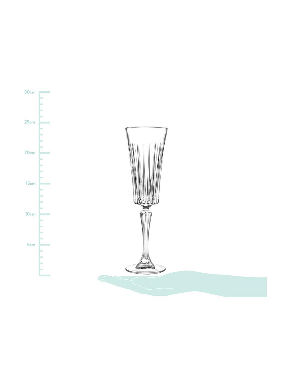 Křišťálová sklenice na sekt Timeless, 6 ks, Transparentní