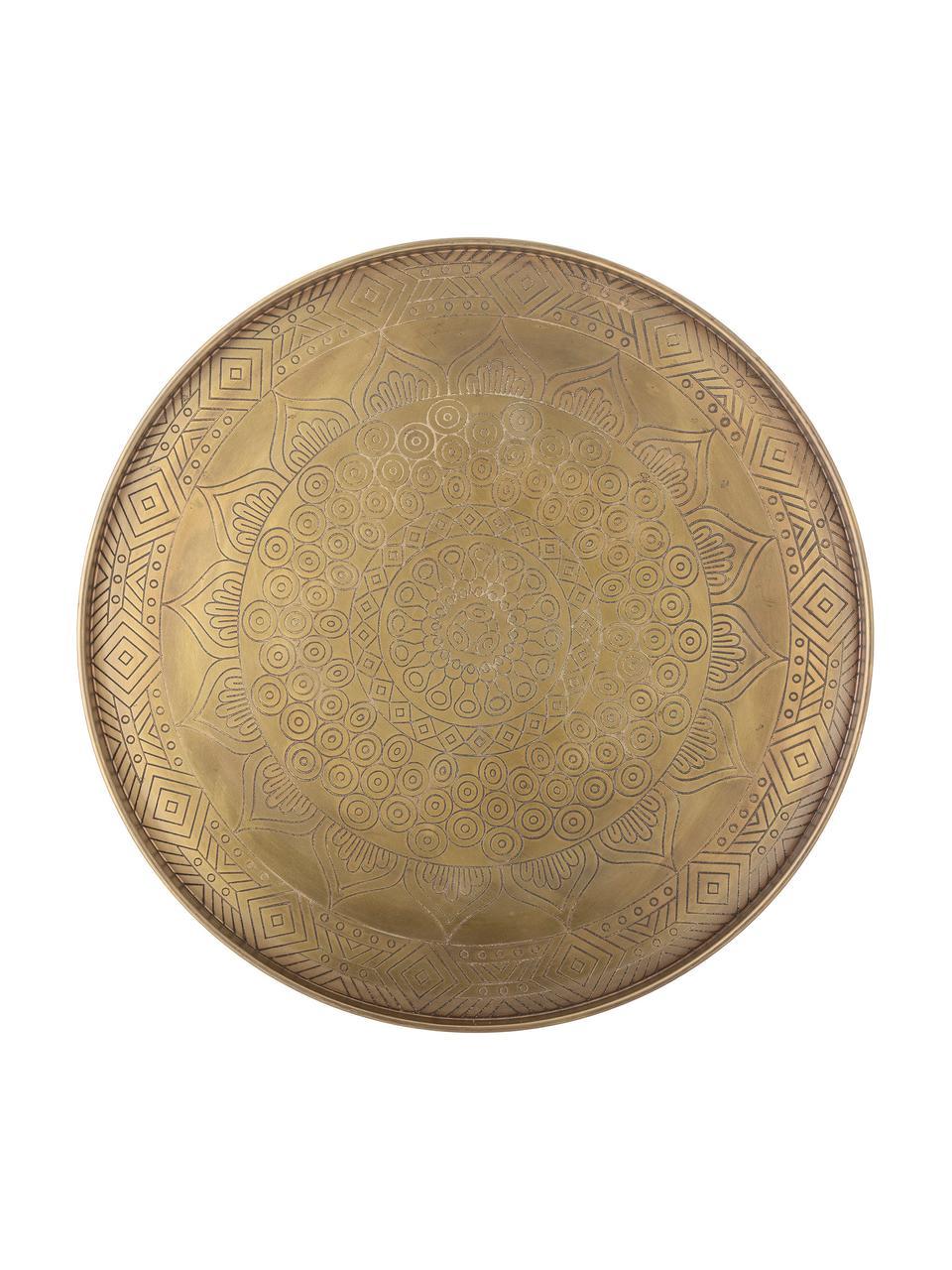 Dekorativní tác z kovu Conan, Ø 40 cm, Mosazná