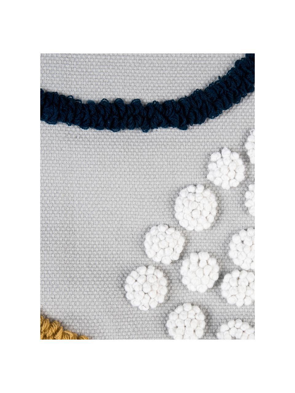 Kissenhüllen Pablo mit abstrakter Verzierung, 2er-Set, 100% Baumwolle, Vorderseite: MehrfarbigRückseite: Weiß, 45 x 45 cm