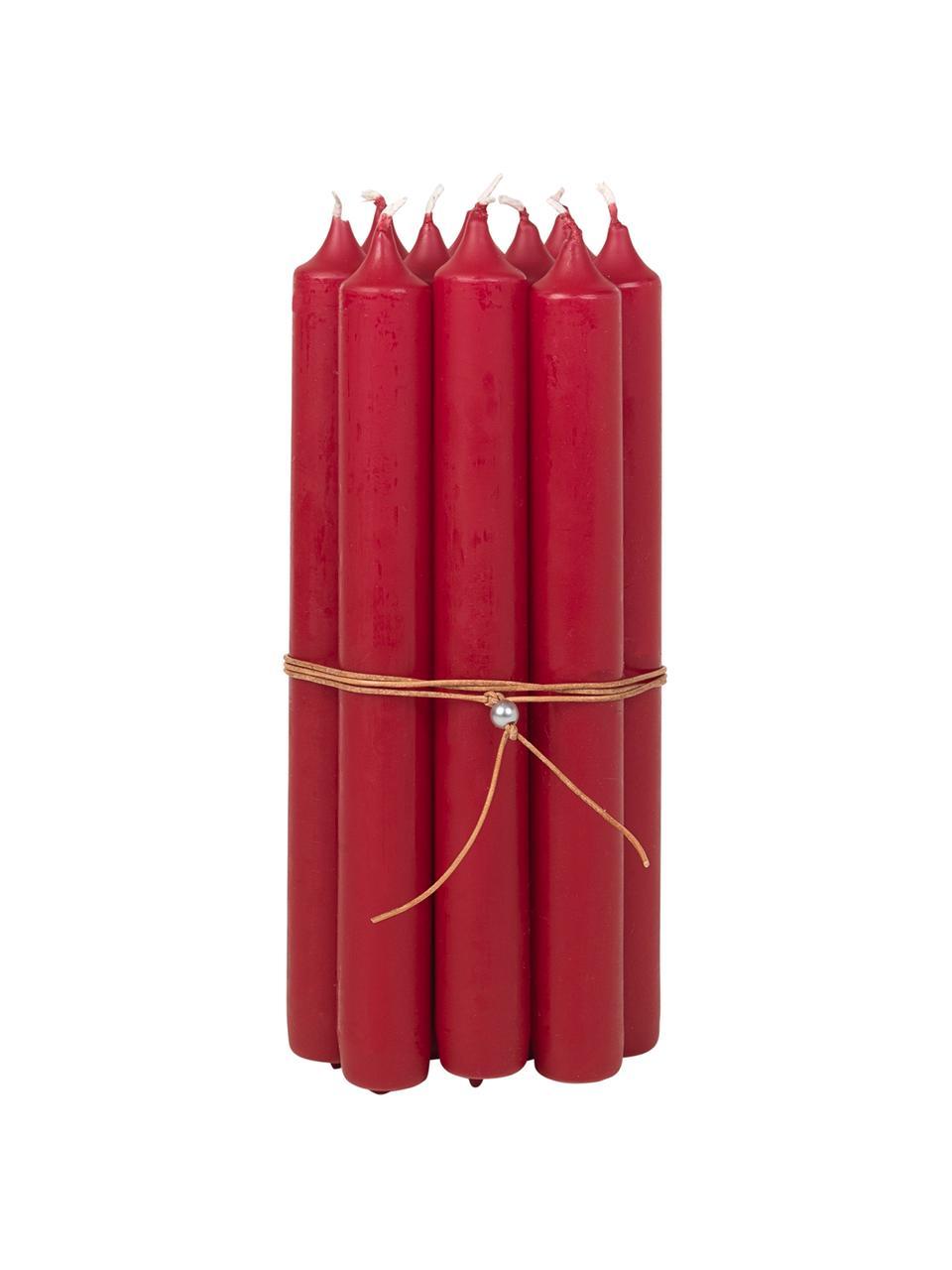 Świeca stołowa Classic, 10 szt., Parafina, Czerwony, Ø 2 x W 19 cm