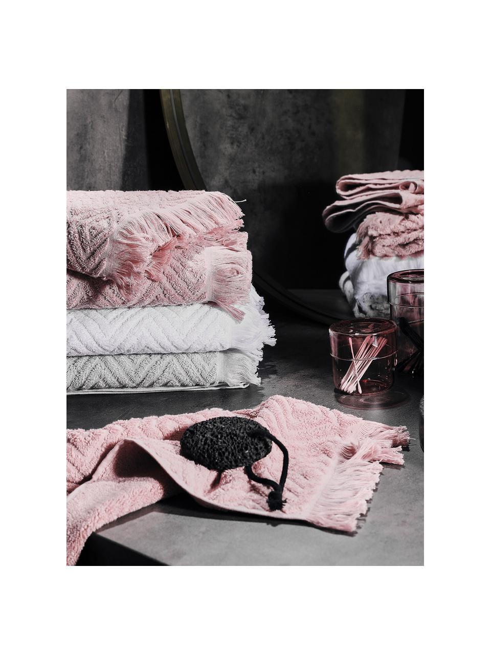 Set 3 asciugamani Jacqui, Grigio chiaro, Set in varie misure