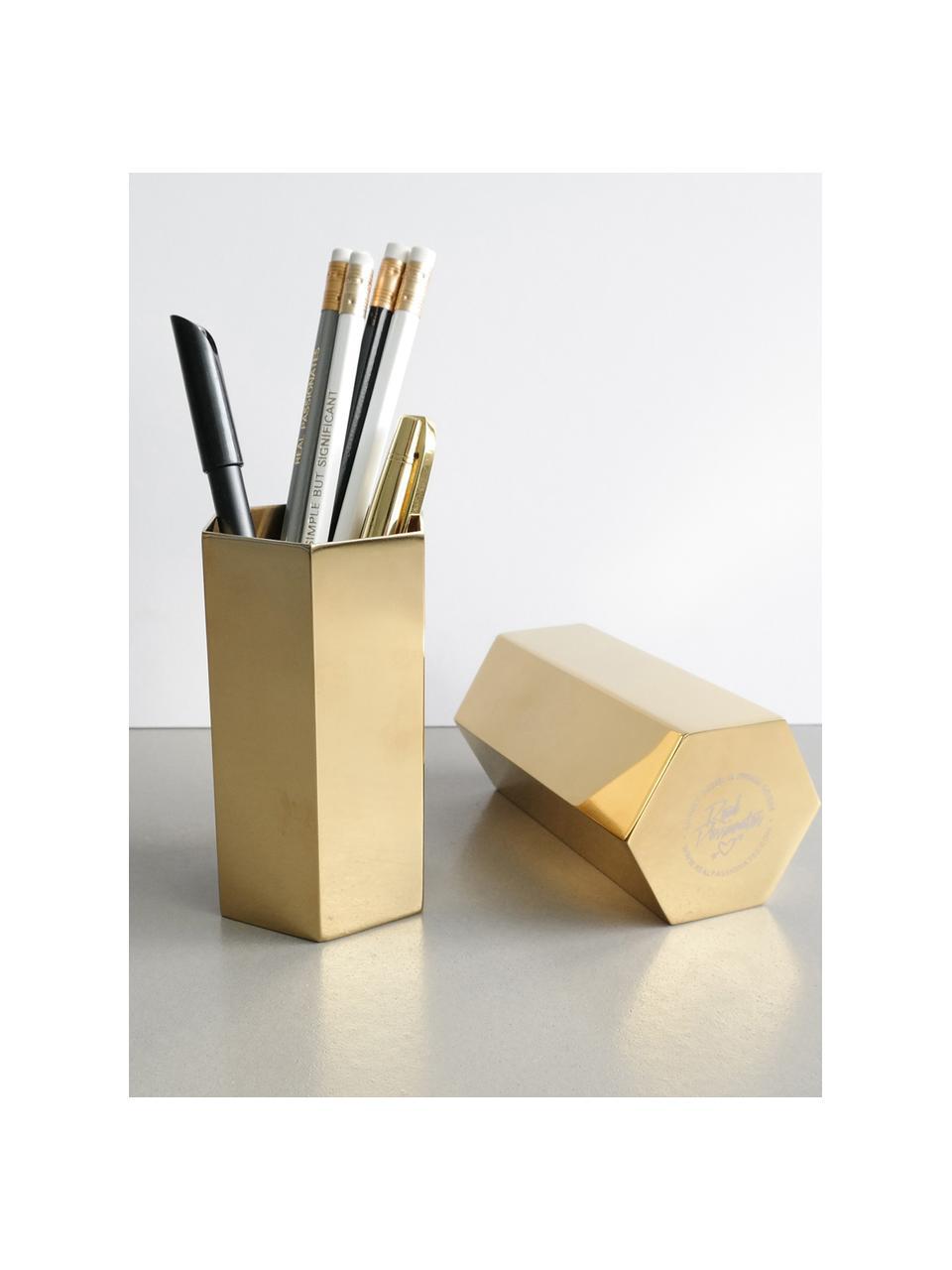 Büro-Organizer-Set Tener, 2-tlg., Stahl, beschichtet, Goldfarben, Verschiedene Größen