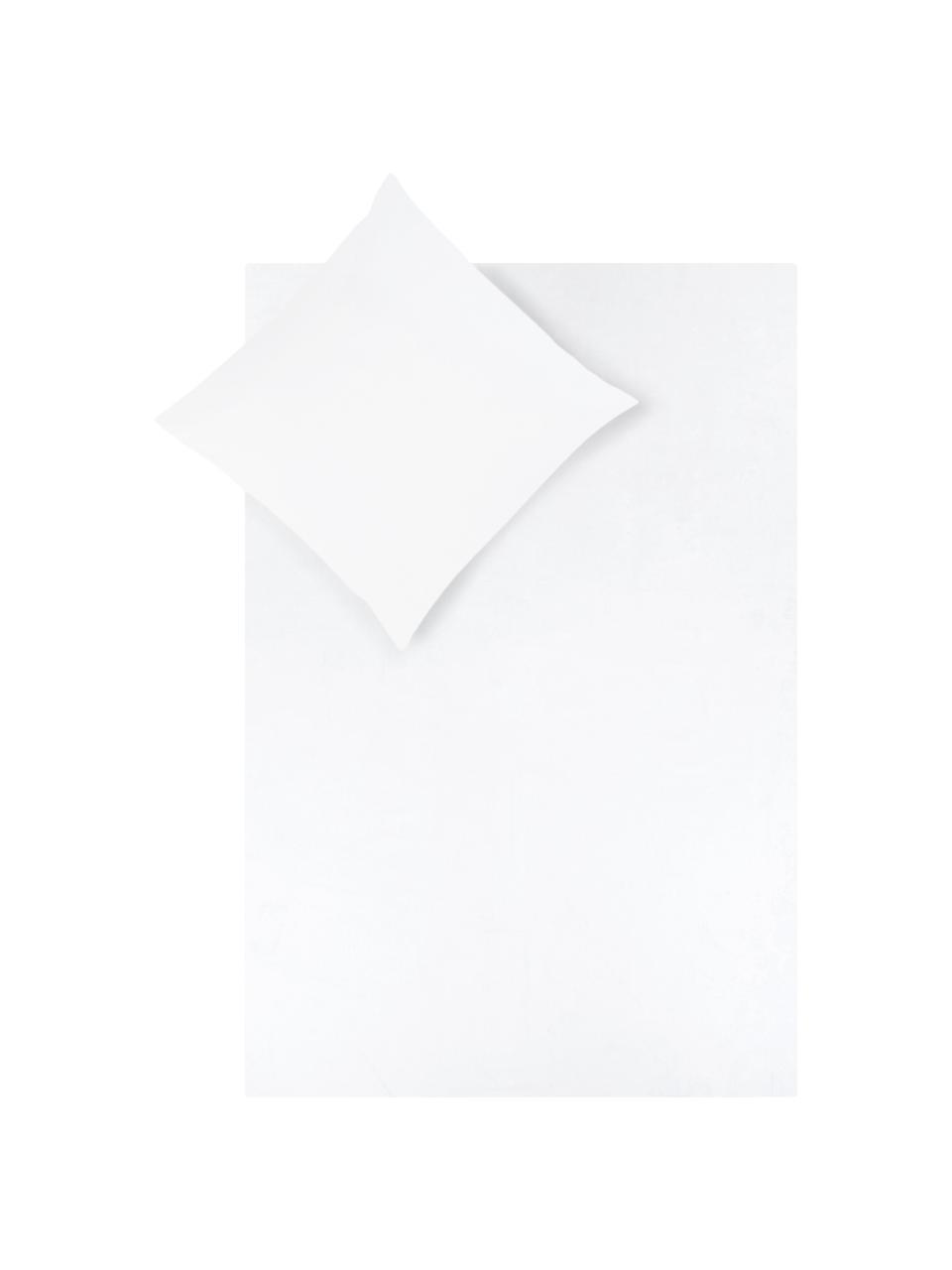 Baumwollsatin-Bettwäsche Comfort in Weiß, Webart: Satin Fadendichte 250 TC,, Weiß, 135 x 200 cm + 1 Kissen 80 x 80 cm