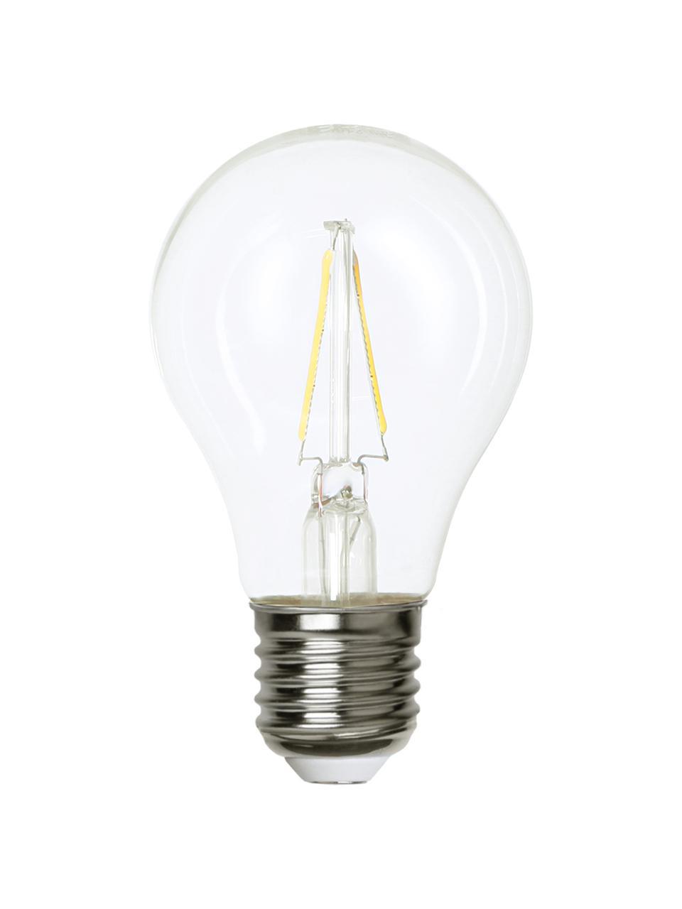 E27 Leuchtmittel, 220lm, warmweiß, 1 Stück, Leuchtmittelschirm: Glas, Leuchtmittelfassung: Aluminium, Transparent, Ø 6 x H 11 cm
