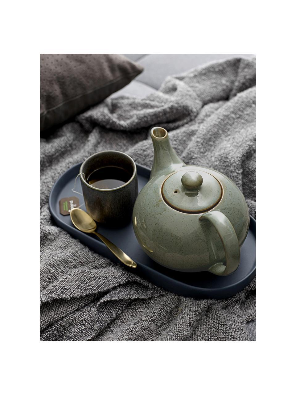 XS-Teekanne Pixie aus Steingut, 820 ml, Steingut, Grüntöne, 820 ml