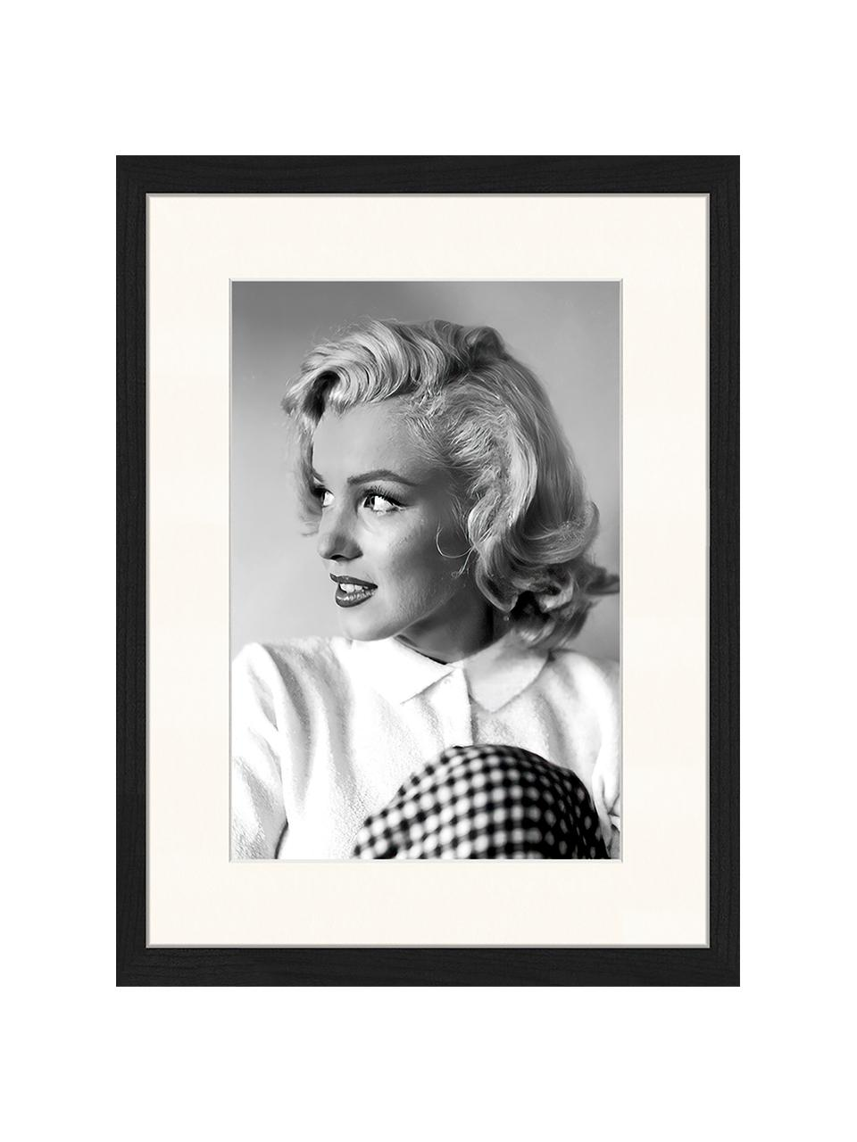 Impression numérique encadrée Marilyn Monroe, Noir, blanc