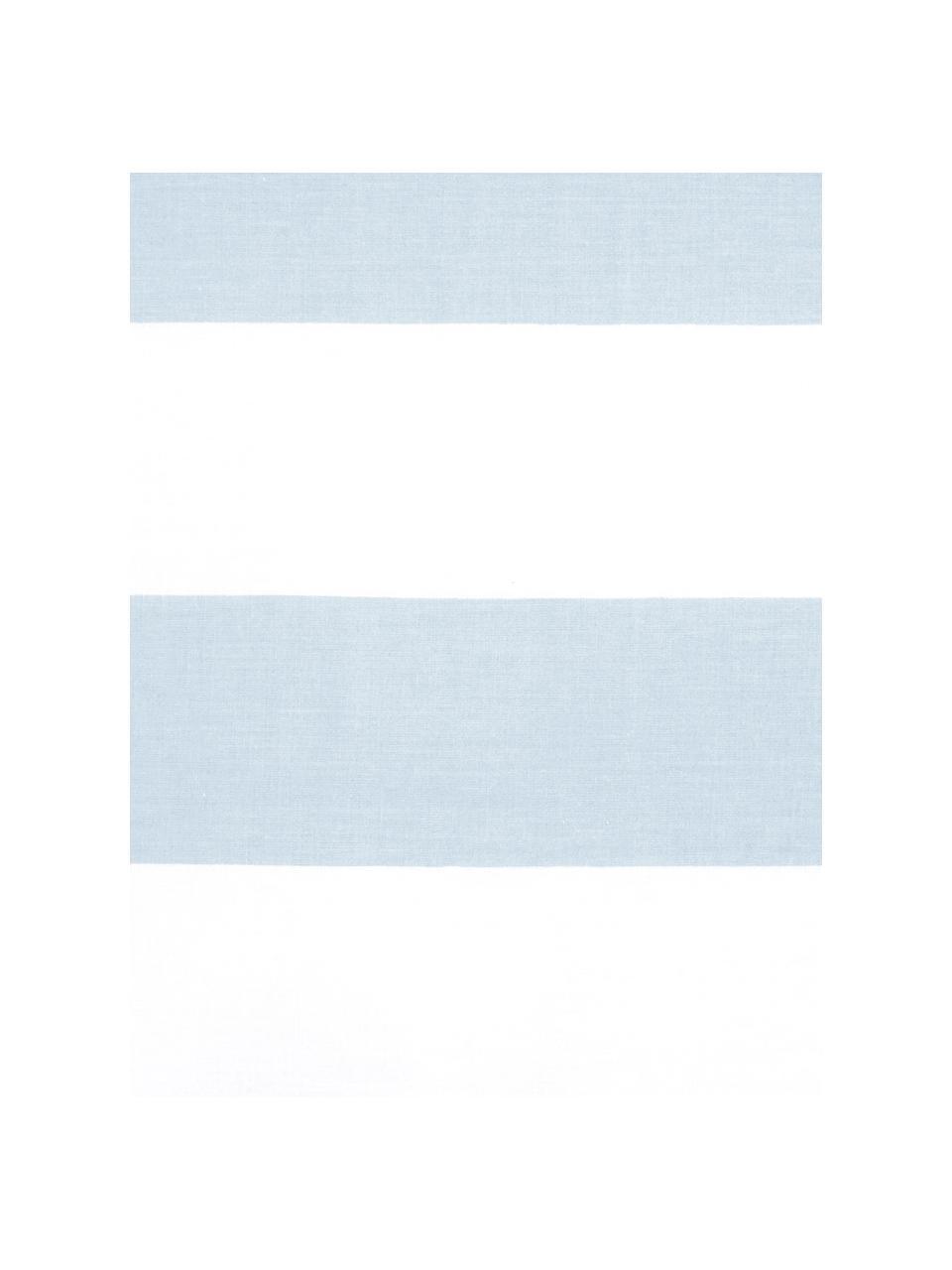 Gestreifte Baumwoll-Wendebettwäsche Lorena, Webart: Renforcé Fadendichte 144 , Hellblau, 135 x 200 cm + 1 Kissen 80 x 80 cm