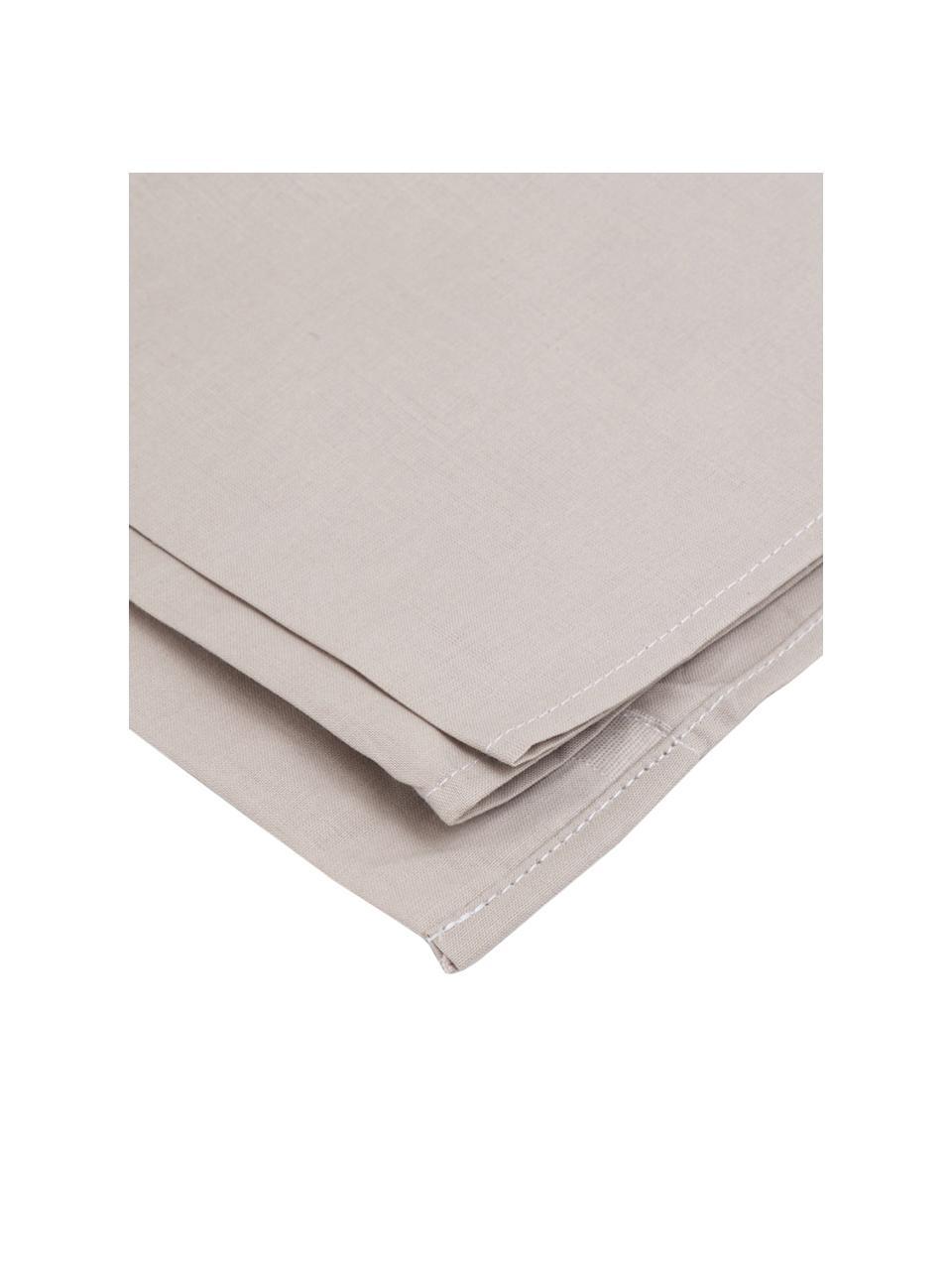 Set lenzuola grigio chiaro in cotone ranforce Lenare, Fronte e retro: grigio chiaro, 150 x 290 cm + 1 federa 50 x 80 cm