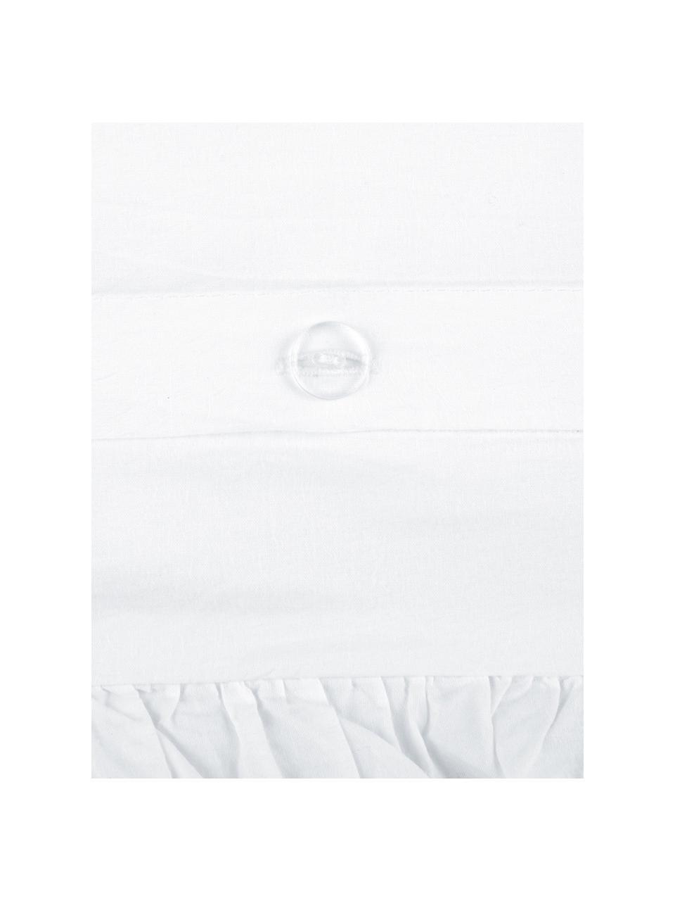 Pościel z bawełny z efektem sprania Florence, Biały, 200 x 200 cm