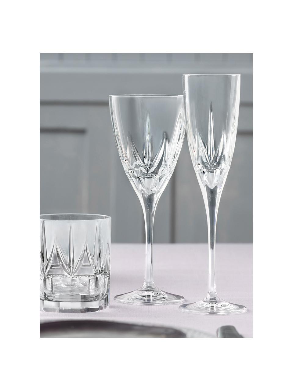 Křišťálová sklenice na sekt Chic, 6 ks, Transparentní