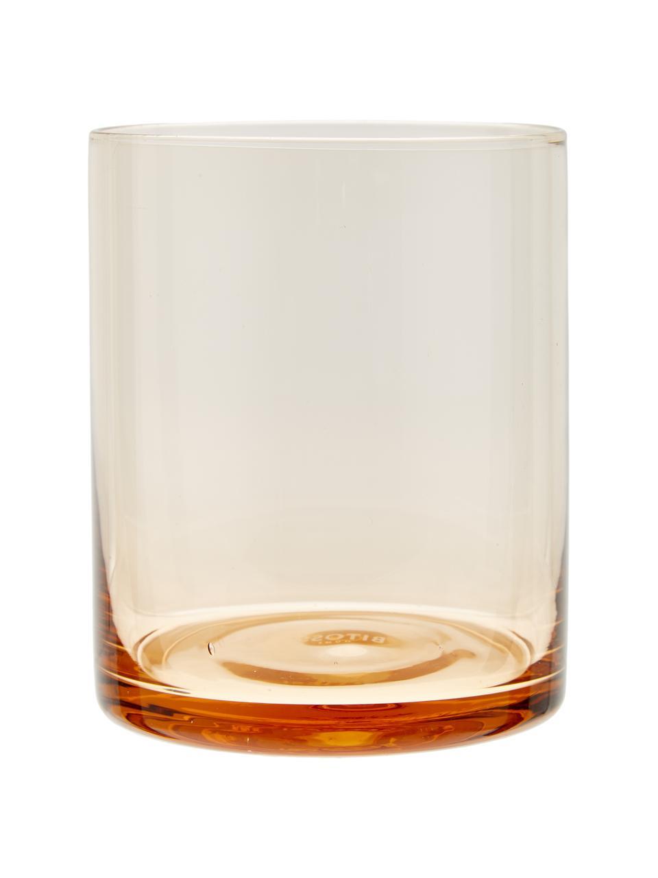 Set 6 bicchieri acqua in vetro soffiato in diverse forme e colori Desigual, Vetro soffiato, Multicolore, Ø 8 x Alt. 10 cm
