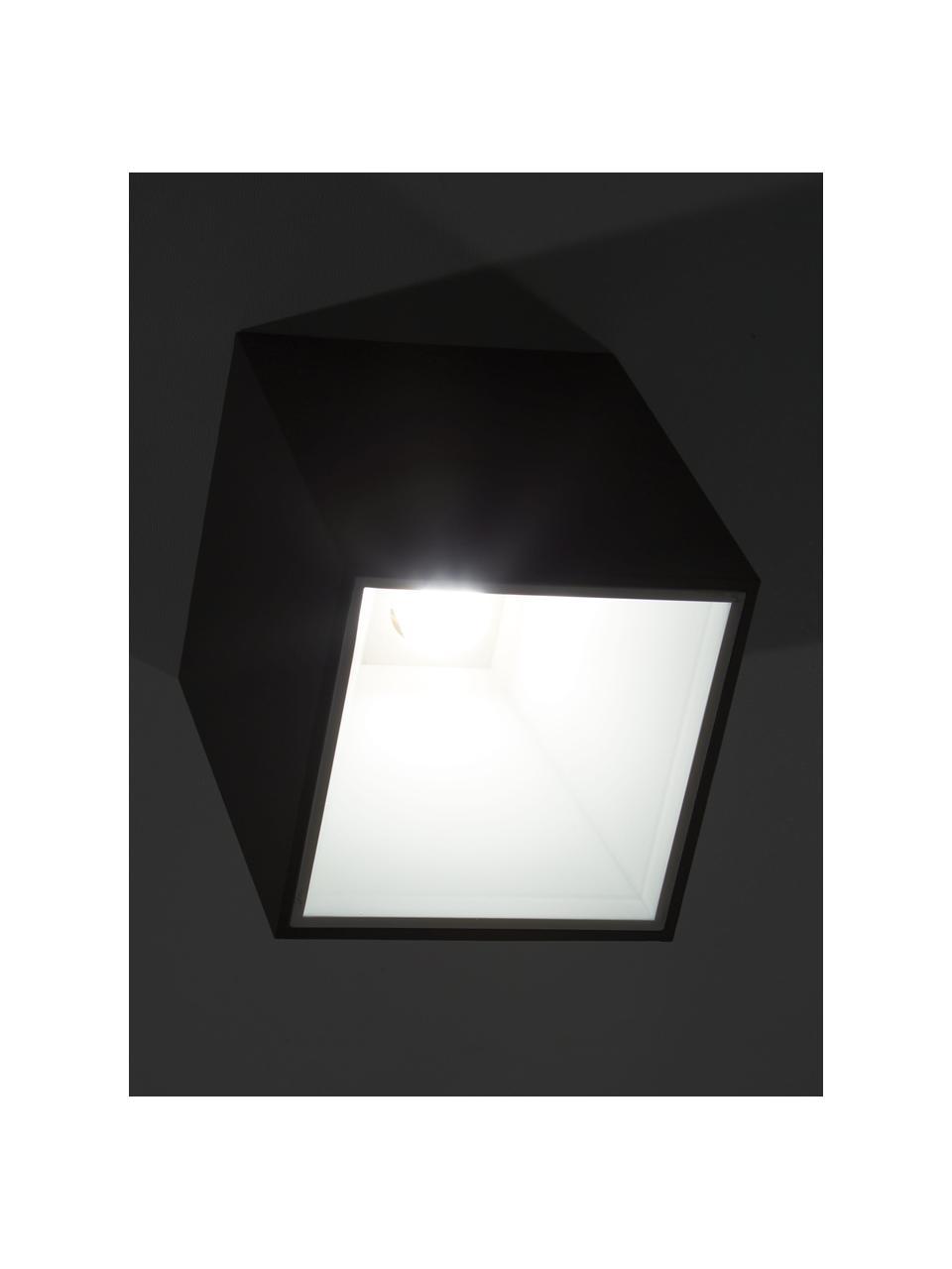 LED-Deckenspot Marty, Lampenschirm: Metall, pulverbeschichtet, Schwarz,Weiß, 10 x 12 cm